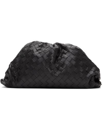 Черный клатч с тиснением с подкладкой Bottega Veneta