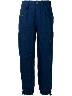 С завышенной талией льняные брюки с карманами Polo Ralph Lauren