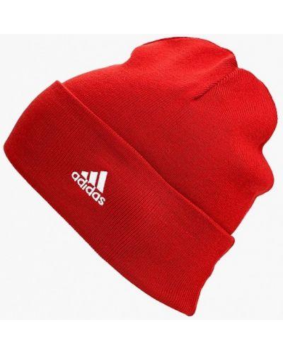 Красная шапка осенняя Adidas