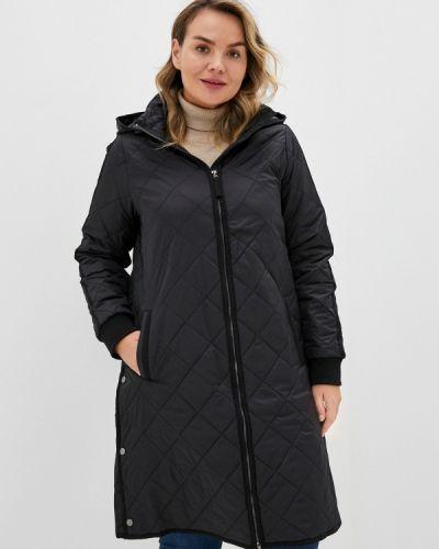 Теплая черная утепленная куртка Zizzi