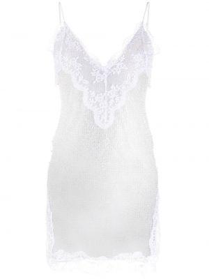 Sukienka koronkowa z dekoltem w serek - biała Christopher Kane