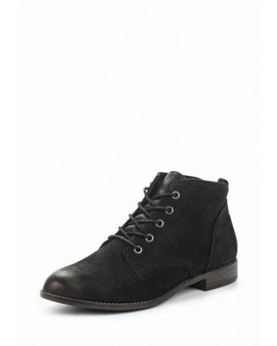 Ботинки на каблуке из нубука Tamaris