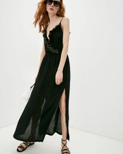 Пляжное черное платье Luli Fama