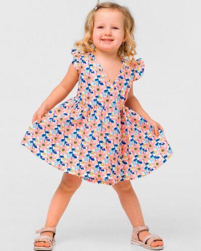 Платье с запахом в цветочный принт Smil