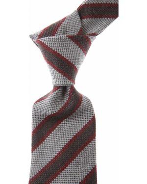 Czerwony krawat bawełniany Borrelli