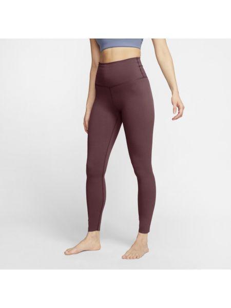 Fioletowe legginsy z wysokim stanem Nike