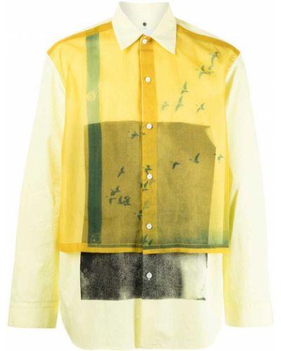 Żółta koszula bawełniana Oamc