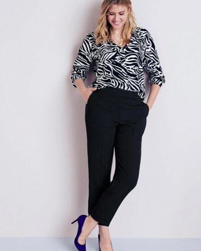 Черная блузка с длинным рукавом Violeta By Mango