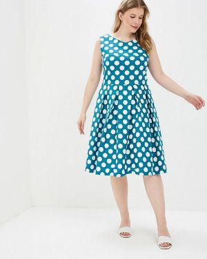 Повседневное платье бирюзовый авантюра Plus Size Fashion