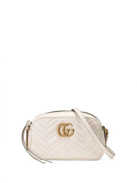 Złota torebka na łańcuszku - biała Gucci