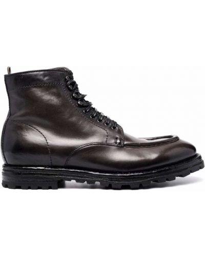 Серые резиновые ботинки Officine Creative