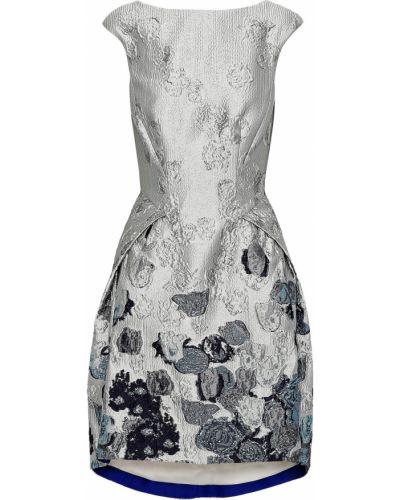 Шелковое серое платье мини с подкладкой Amanda Wakeley