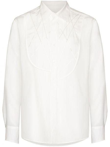 Biała koszula srebrna Sulvam