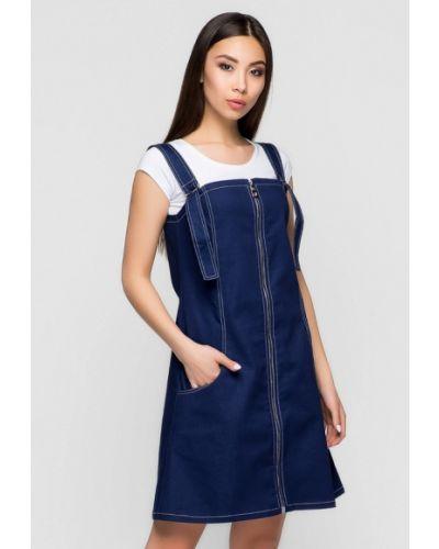Платье мини джинсовое весеннее A-dress