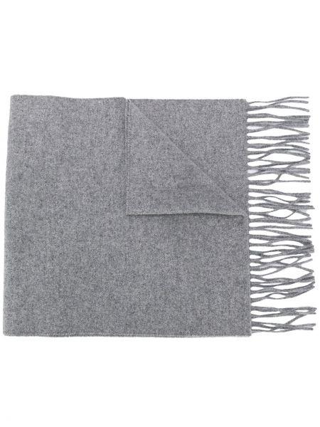Prążkowany szalik wełniany z haftem Moschino