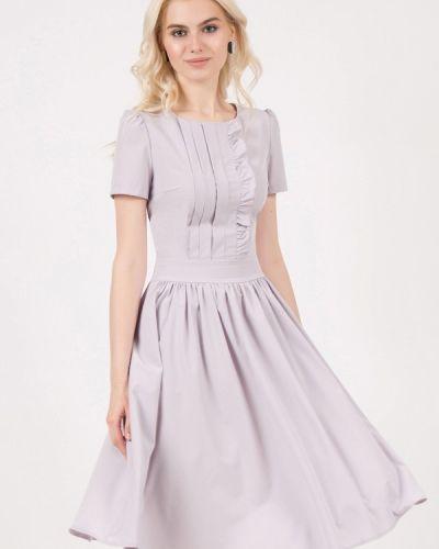 Платье миди серое Marichuell
