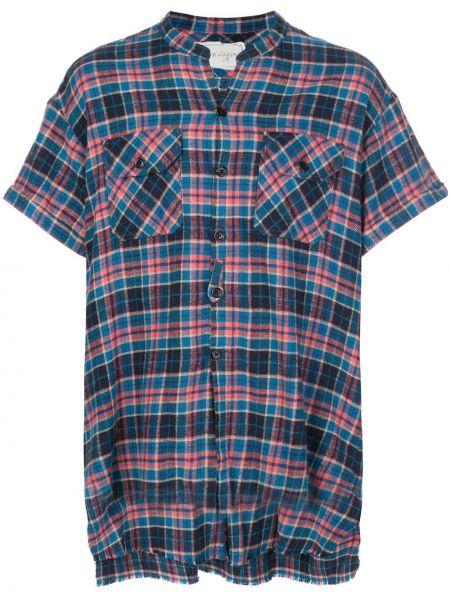 Niebieska koszula krótki rękaw bawełniana Greg Lauren