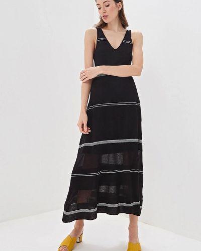 Платье прямое черное Adolfo Dominguez