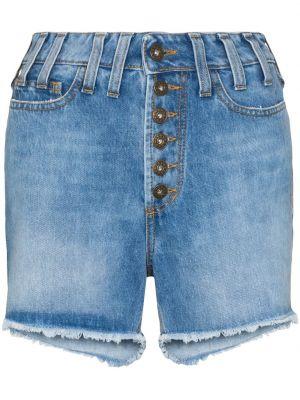 Деловые джинсовые шорты с карманами с бахромой Faith Connexion
