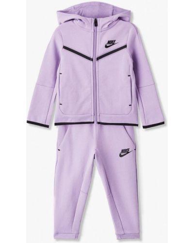 Костюмный фиолетовый спортивный костюм Nike