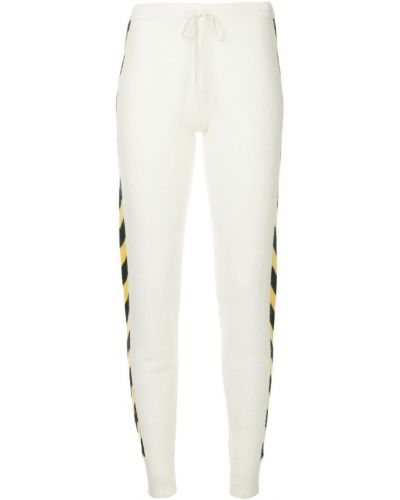 Зауженные спортивные брюки - белые Madeleine Thompson