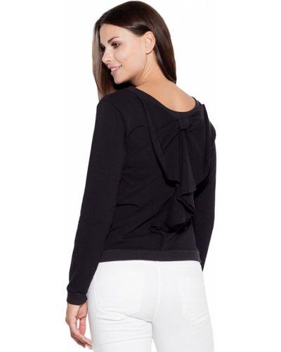 Czarna bluzka bawełniana Katrus