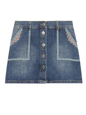 Синяя джинсовая юбка Bonpoint
