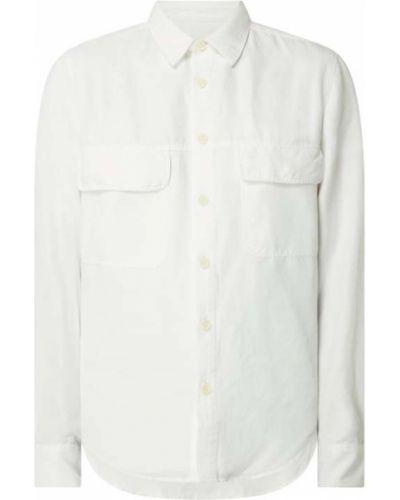Biała koszula bawełniana z długimi rękawami Drykorn