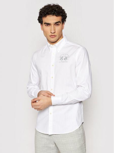 Biała biała koszula La Martina
