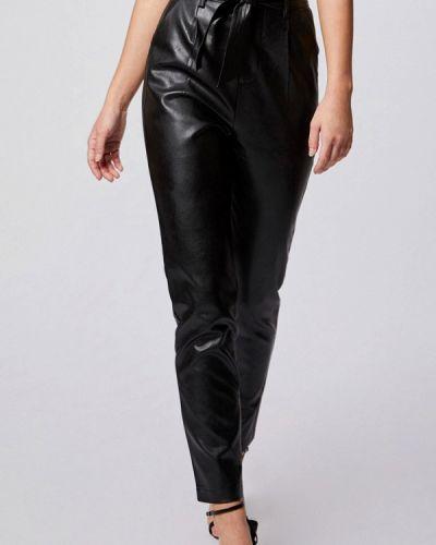 Кожаные черные брюки Morgan