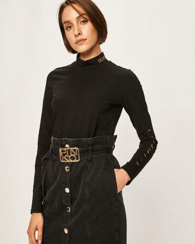 Блузка с длинным рукавом прямая черная Liu Jo