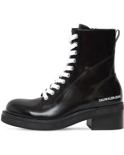 Ботинки на каблуке на шнуровке Calvin Klein Jeans