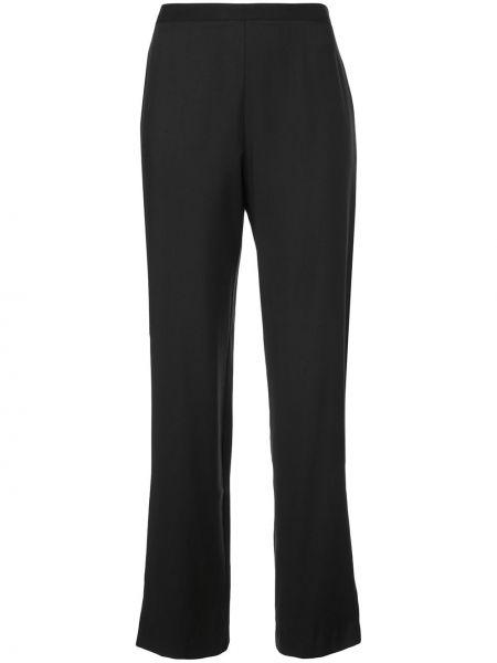 Черные свободные брюки свободного кроя с высокой посадкой на молнии Natori