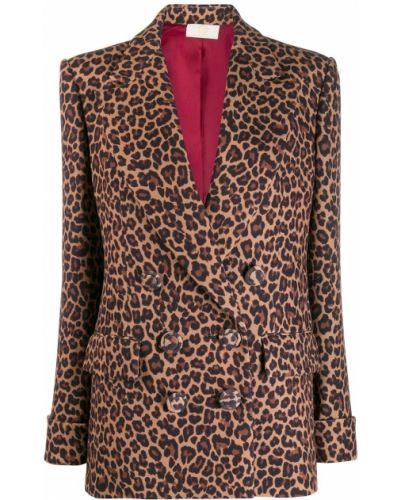 Удлиненный пиджак с карманами свободного кроя Sara Battaglia