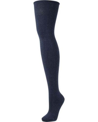 Niebieski bawełna bawełna podkolanówki Esprit