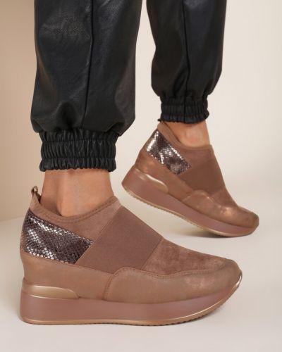 Klasyczne buty sportowe khaki Renee