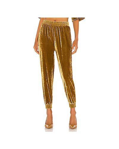 Горчичные брюки вельветовые эластичные Cupcakes And Cashmere