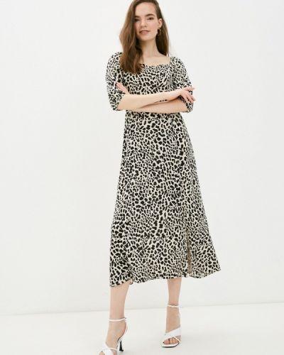 Прямое бежевое платье А-силуэта B.young