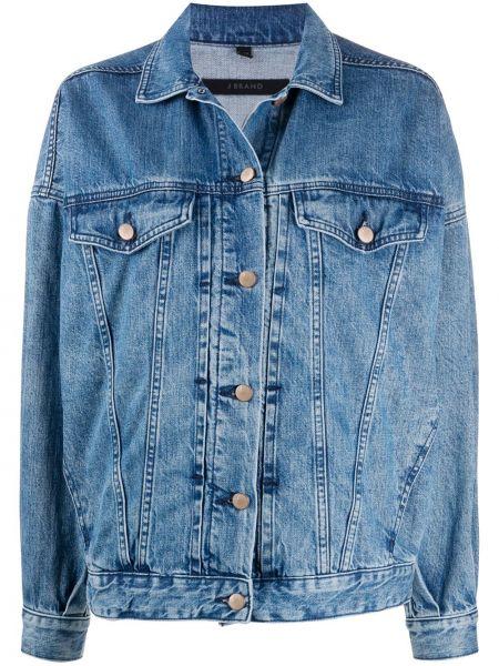 Джинсовая куртка на пуговицах с карманами J Brand