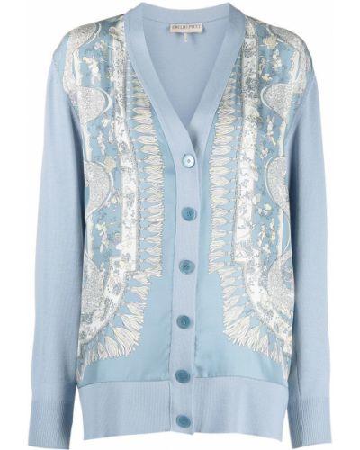 Синее пальто на пуговицах Emilio Pucci