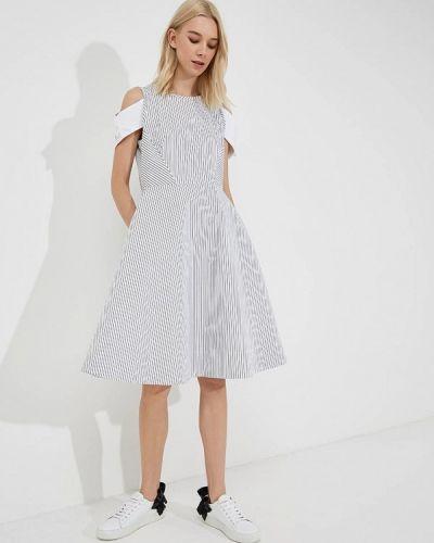 Белое платье с открытыми плечами Karl Lagerfeld