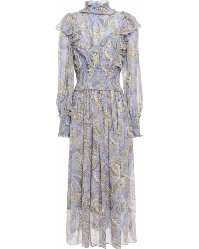 Сиреневое платье из вискозы Zimmermann