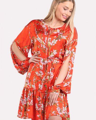 Повседневное платье весеннее красный Panove