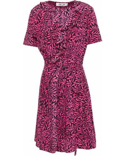 Облегченное шелковое розовое платье Diane Von Furstenberg