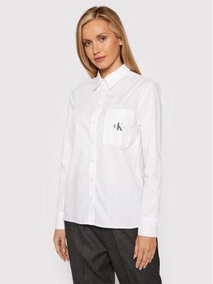 Bluzka - biała Calvin Klein Jeans