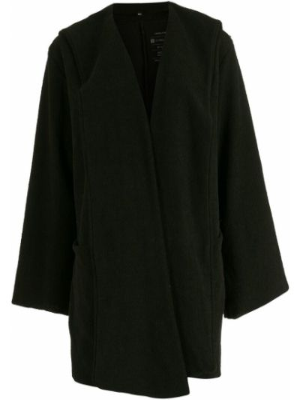 Пальто оверсайз - черное Osklen
