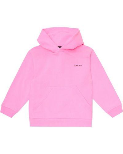 Bawełna bawełna różowy bluza z kapturem Balenciaga Kids
