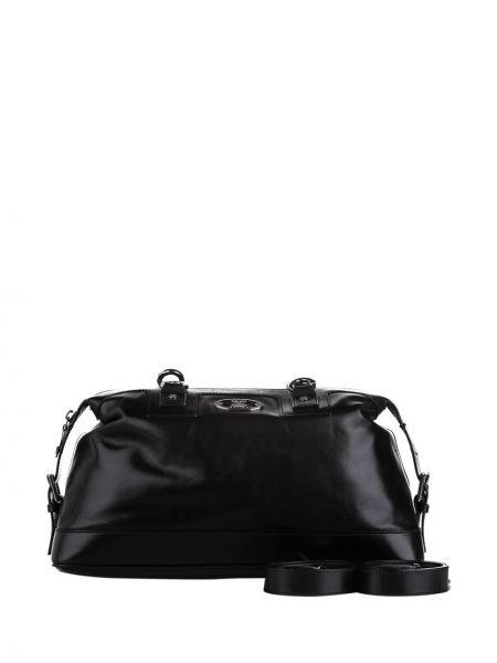 Черная сумка на плечо металлическая на молнии с подкладкой Céline Pre-owned