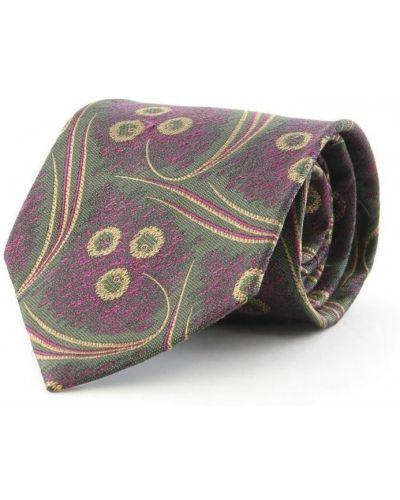 Krawat z jedwabiu - fioletowy Balenciaga Vintage