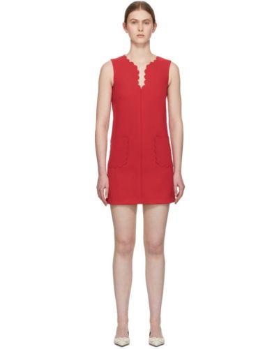Платье розовое с отложным воротником Red Valentino
